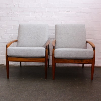 Pair of Model 121 Paper Knife lounge chairs by Kai Kristiansen for Magnus Olesen, 1950s