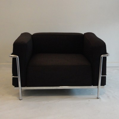2 LC 3 lounge chairs from the seventies by Le Corbusier for Cassina