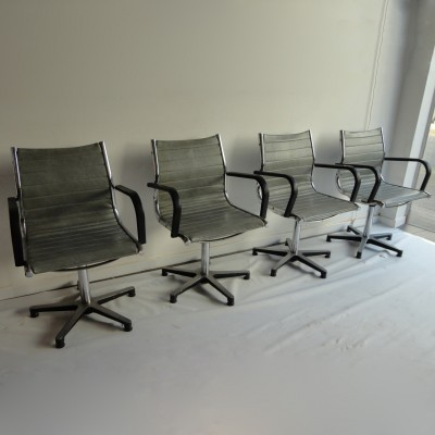 4 Prototype Alu Chair office chairs from the fifties by Charles & Ray Eames for Charles & Ray Eames