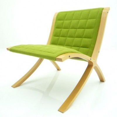 4 AX lounge chairs from the eighties by Peter Hvidt & Orla Mølgaard Nielsen for Fritz Hansen