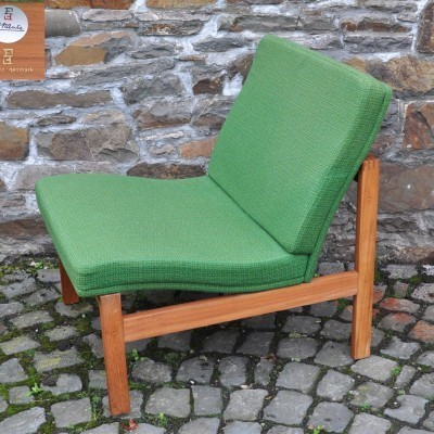 Set of 4 lounge chairs by Ole Gjerløv Knudsen & Torben Lind for France & Son, 1950s