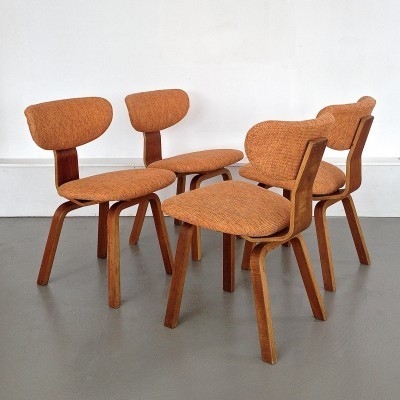 Set of 4 dinner chairs from the sixties by Cees Braakman for Pastoe
