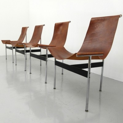 4 x T-chair 3LC dining chair by William Katavolos & Ross Littell for Laverne International, 1950s