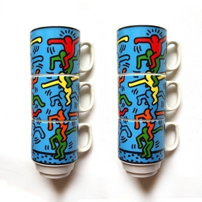 Mugs by Keith Haring for Konitz