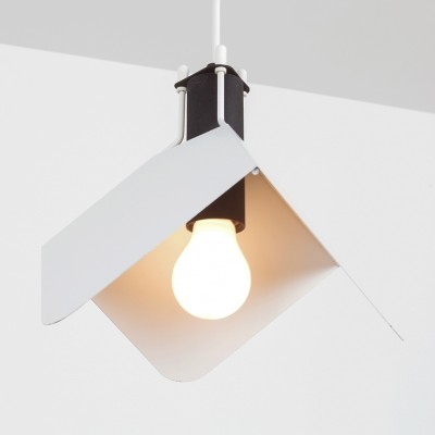 2 Triedro hanging lamps from the sixties by Joe Colombo for Stilnovo