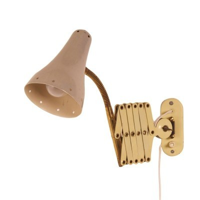 Scissors wall lamp from the fifties by H. Busquet for Hala Zeist