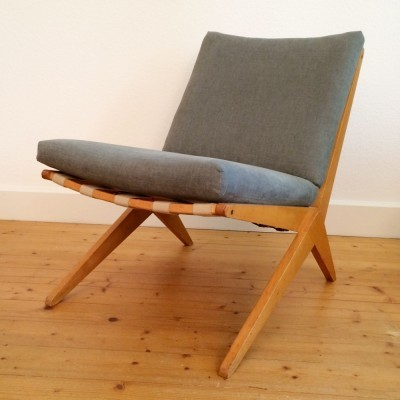 Scissor lounge chair from the forties by Pierre Jeanneret & Charlotte Perriand for Wohnbedarf Basel