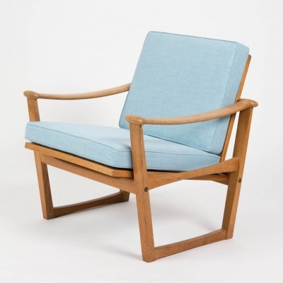 Set of 'Model 65' oak lounge chairs by M.Nissen, 1950s