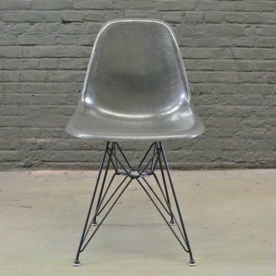2 DSR Elephant Grey dinner chairs from the fifties by Charles & Ray Eames for Herman Miller