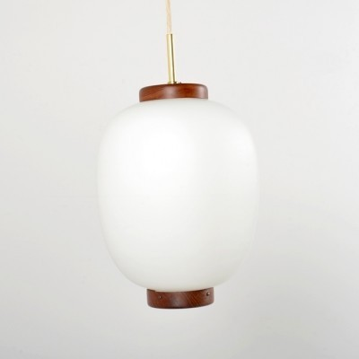 Kina Pendel hanging lamp by Bent Karlby for Lyfa, 1950s