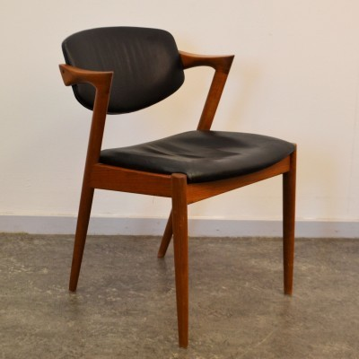 Dinner chair by Kai Kristiansen for Schou Andersen SVA Møbler, 1950s