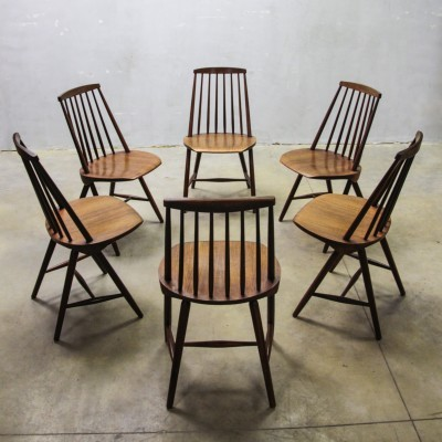 6 SH45 dinner chairs from the sixties by Yngve Ekström for Pastoe