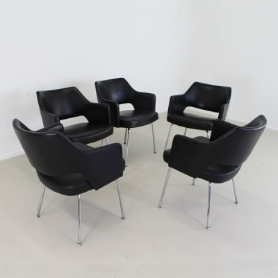 Set of 5 arm chairs by Hein Salomonson for AP Originals, 1960s