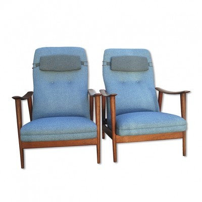 Pair of Combi Star lounge chairs by Arnt Lande for Stokke, 1950s