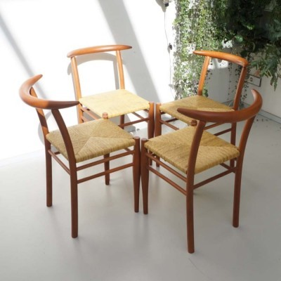 Set of 4 Tessa Nature dining chairs by Philippe Starck for Driade, 1980s
