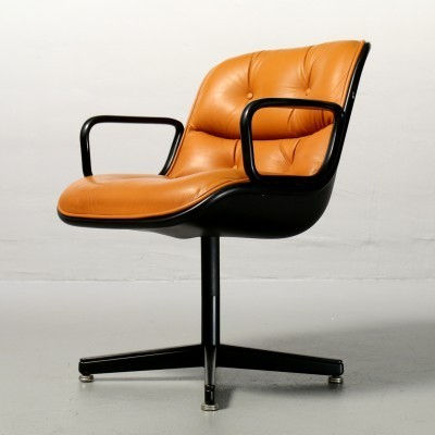 4 x Executive office chair by Charles Pollock for Knoll, 1960s