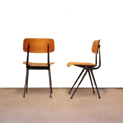 6 Result dinner chairs from the fifties by Friso Kramer & Wim Rietveld for Ahrend de Cirkel