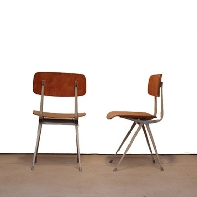 7 dinner chairs from the fifties by Friso Kramer & Wim Rietveld for Ahrend de Cirkel