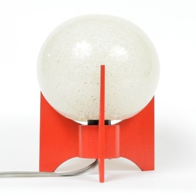 Postmodern red bedside lamp by Pokrok Zilina, 1970s