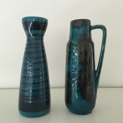Set of 2 vases from the sixties by unknown designer for West Germany