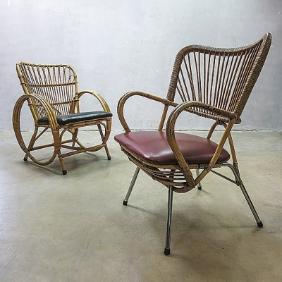 2 lounge chairs from the fifties by unknown designer for Rohé Noordwolde