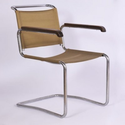 H 164 lounge chair from the thirties by Jindřich Halabala for UP Závody Brno