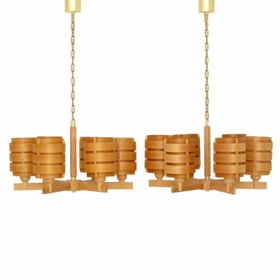 Pair of T499 Basilius hanging lamps by Hans Agne Jakobsson, 1960s