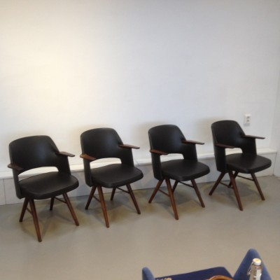Set of 4 FT30 dinner chairs from the fifties by Cees Braakman for Pastoe