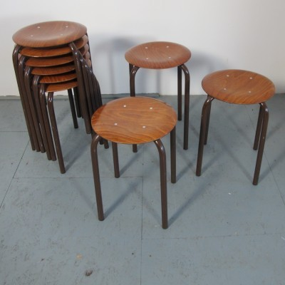 9 stools from the seventies by Ynske Kooistra for Marko Holland