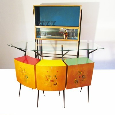 Cocktail Bar cabinet from the fifties by unknown designer for unknown producer