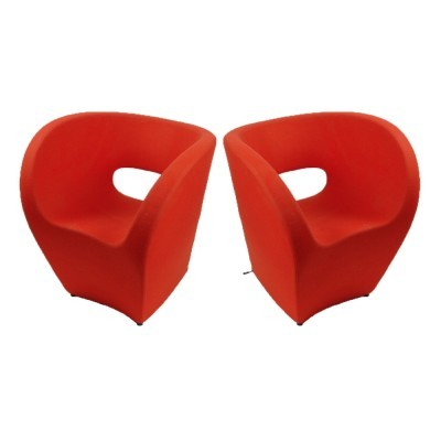 2 Little Albert lounge chairs from the nineties by Ron Arad for Moroso Italy