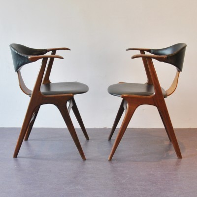 Pair of AWA dining chairs, 1950s