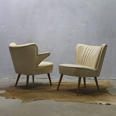 2 lounge chairs from the fifties by Theo Ruth for Artifort