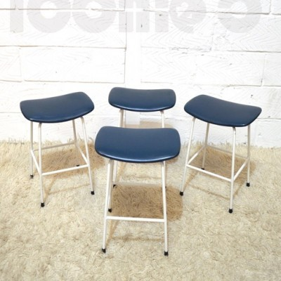 Set of 4 Program stools by Frank Guille for Kandya, 1950s