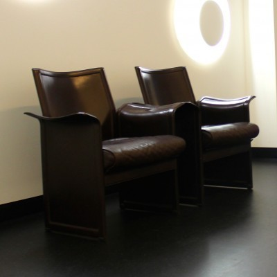 Pair of Korium lounge chairs by Tito Agnoli for Matteo Grassi, 1970s