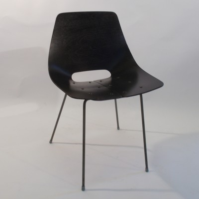 Toneau dining chair by Pierre Guariche for Steiner, 1950s
