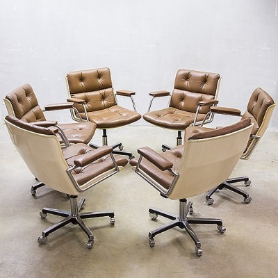 6 x vintage office chair, 1960s
