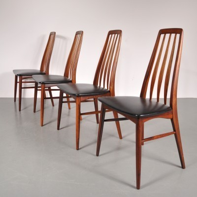 Set of 4 dining chairs by Niels Kofoed for Hornslet Møbelfabrik, 1950s