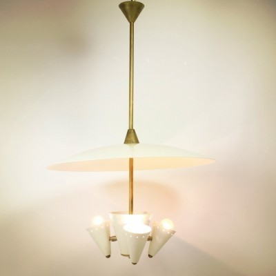 2 hanging lamps from the fifties by unknown designer for unknown producer