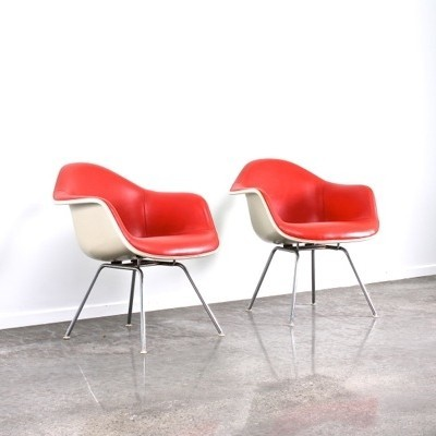 2 x LAX lounge chair by Charles & Ray Eames for Herman Miller, 1970s