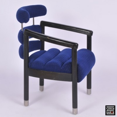Hotel International arm chair from the seventies by Miloš Kramoliš for unknown producer