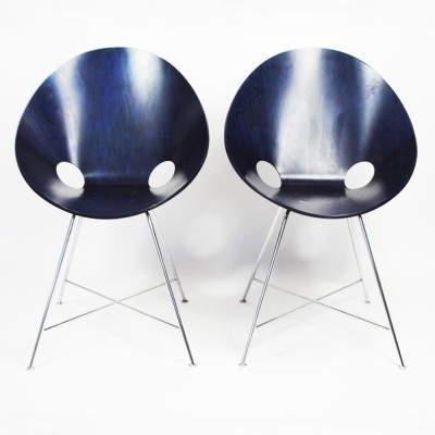 2 S664 dinner chairs from the fifties by Eddie Harlis for Thonet