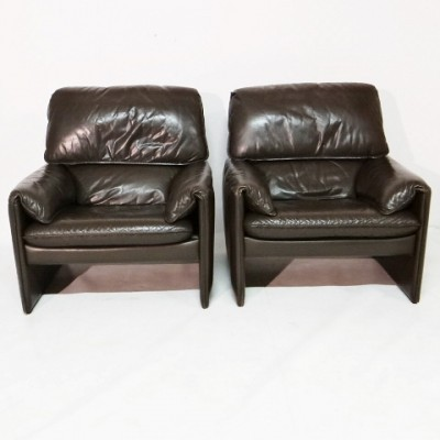 Pair of Leolux lounge chairs, 1970s