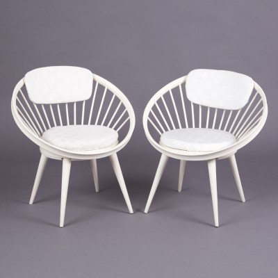 Set of 2 Circle arm chairs from the sixties by Yngve Ekström for AV Arredamenti Contemporanei