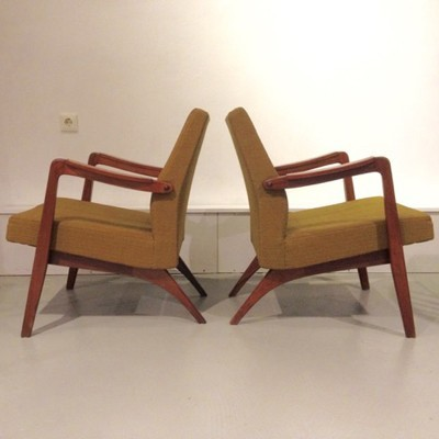Pair of lounge chairs by Jos de Mey for Van Den Berghe Pauvers, 1950s