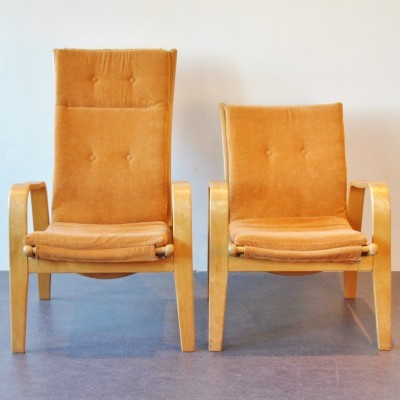 Set of 2 FB05 And FB06 lounge chairs from the fifties by Cees Braakman for Pastoe