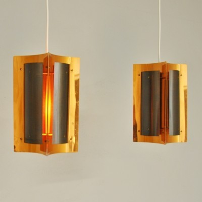 Pair of vintage hanging lamps, 1970s