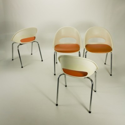 Set of 4 Bupro dining chairs, 1970s