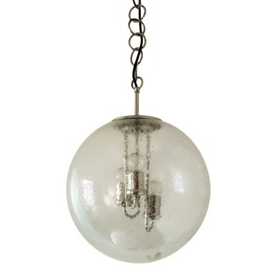 Limburger Glashütte hanging lamp, 1960s