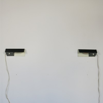 Set of 2 No. 7032 wall lamps from the fifties by J. Hoogervorst for Anvia Almelo